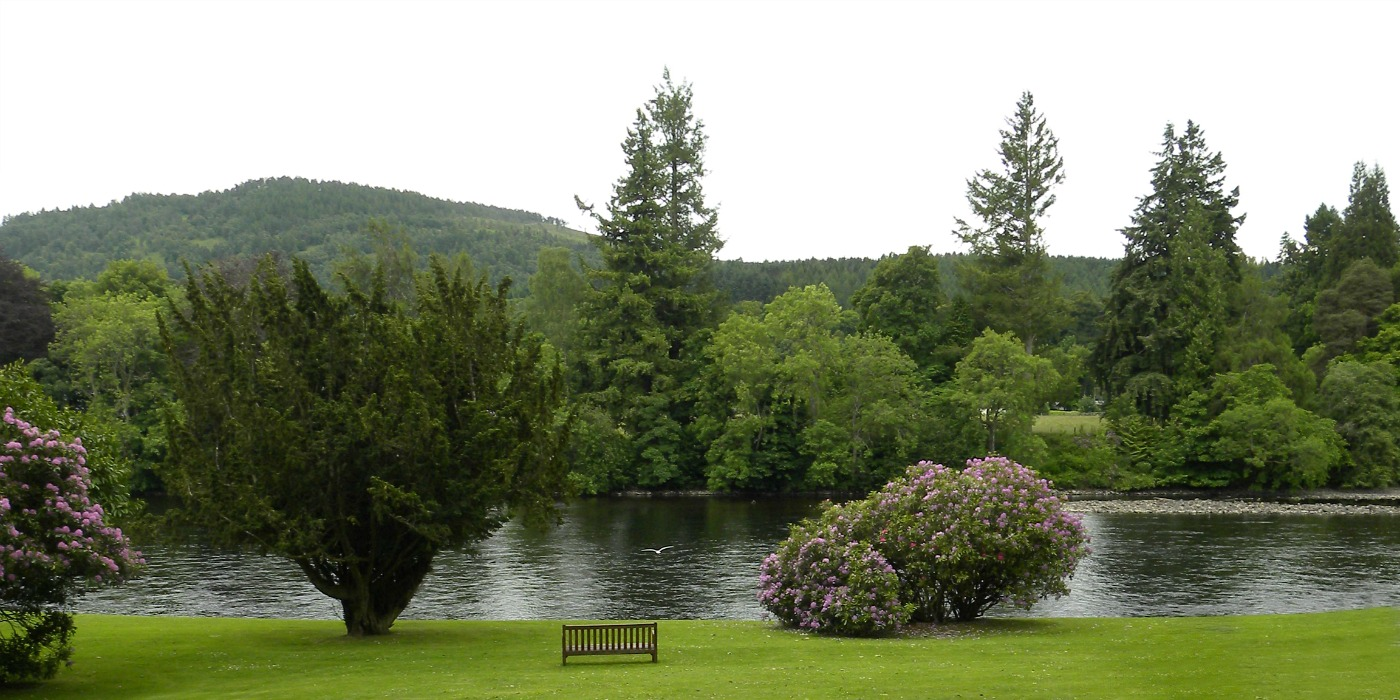 Bench by the River Tay in Dunkeld